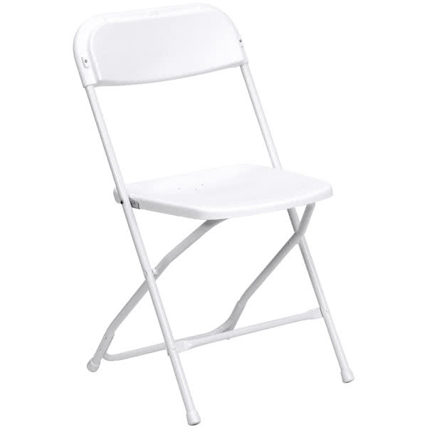 white folding chair hire London