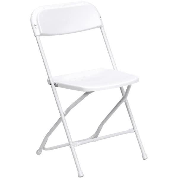white folding chair hire London